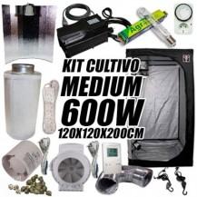 KIT CULTIVO INTERIOR MEDIUM 600W ARMARIO 120X1200X200CM
