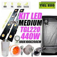 KIT LED CULTIVO  TGL 220 X2 440W (ARMARIO 100X100X200)
