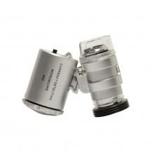 Mini microscopio para el iPhone 4 60x (2 LED, 1 luz UV)