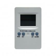 Termo higrómetro y reloj (sin sonda)